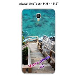 Coque TPU Gel Souple Alcatel OneTouch PIXI 4 - 5.5""